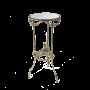 """Столик высокий круглый с зеркальной столешницей Bello De Bronze BP-50217-D - """"Мир Сантехники"""" - Интернет Магазин   1"""